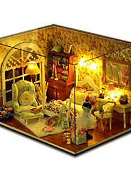 cheap -CUTE HOUSE Wood Model Toys DIY House Plastics Wood Pieces Not Specified Birthday Gift