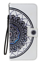 cheap -For Apple iPhone 7 7 Plus 6S 6 Plus SE 5S 5 Case Cover Mandala Pattern PU Material Painted Point Drill Card Wallet Stent Phone Case