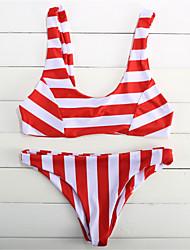 preiswerte -Damen Halfter Bikinis Floral Tiefer Ausschnitt Mit Schleife Solide