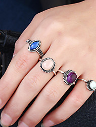 cheap -Women's Ring Circular Metal Alloy Rhinestone Alloy Circle Jewelry For Birthday Date Birthday Party Club Athleisure