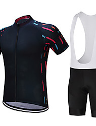cheap -FUALRNY® Cycling Jersey with Bib Shorts Men's Short Sleeves Bike Clothing Suits Bike Wear Quick Dry Moisture Permeability 4D Pad