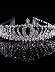 cheap -Crystal Rhinestone Alloy Tiaras Headwear with Floral 1pc Wedding Special Occasion Party / Evening Headpiece