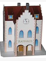 cheap -3D Puzzle Paper Craft Famous buildings Simulation DIY Hard Card Paper Kid's Unisex Gift