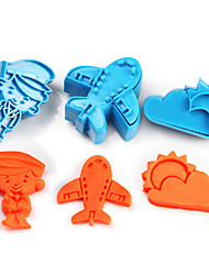 2017 New Arrival Set of 3 Airplane Symbols Cake Molds Sky Sun Cloud Cookie/Biscuit Cutter for Fondant Cake Decorating