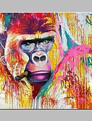 billige -Hang-Painted Oliemaleri Hånd malede - Dyr Moderne / Nutidig Lærred