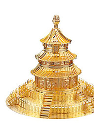 baratos -Quebra-Cabeças 3D Quebra-Cabeça Quebra-Cabeças de Metal Brinquedos de Montar Construções Famosas Arquitetura Chinesa Arquitetura templo