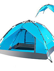 LINGNIU® 3-4 persons Tent Beach Tent Double Camping Tent One Room Automatic Tent Keep Warm Dust Proof for >3000mm PU CM