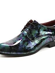 Unisex Scarpe Vernice Autunno Inverno Scarpe formali Oxfords Per Formale Serata e festa Verde