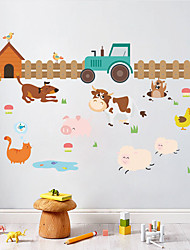 cheap -Animals Fashion Botanical Wall Stickers Plane Wall Stickers Decorative Wall Stickers Height Stickers, Plastic Home Decoration Wall Decal