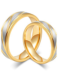 abordables -Couple Or rose Couple de Bagues - Rond Elégant / Style Simple Or Bague Pour Mariage / Anniversaire / Soirée