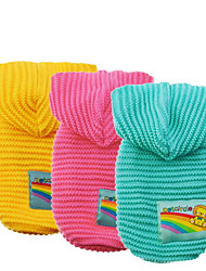 cheap -Dog Sweater Hoodie Dog Clothes Warm Casual/Daily Solid Yellow Blue Pink Costume For Pets