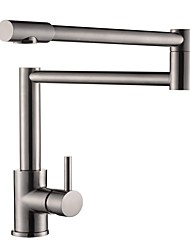 cheap -Kitchen faucet - Contemporary Nickel Brushed Centerset