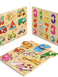 Недорогие -Пазлы Игрушки для обучения математике Обучающая игрушка Квадратный деревянный Детские Мальчики Подарок