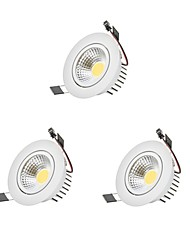 cheap -9W COB Dimmable LED Downlights LED Bulb Included 3 pcs High Quality