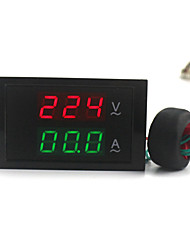 Digital Dual Display AC Voltmeter Ammeter (100~300V / 0~100A)