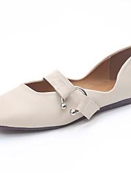 cheap -Women's Heels Comfort Light Soles Summer PU Dress Buckle Block Heel Beige Gray Yellow 1in-1 3/4in