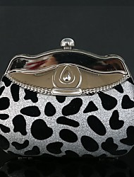 cheap -Women Bags Velvet Evening Bag Leopard Rhinestone for Wedding Event/Party Casual Sports Formal Outdoor Office & Career Spring/Fall All
