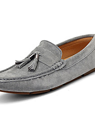 cheap -Men's Moccasin Cowhide Spring / Fall British Loafers & Slip-Ons Walking Shoes Blue / Dark Brown / Khaki / Tassel