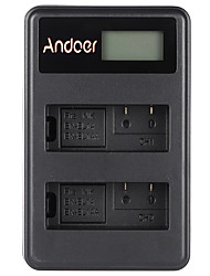 Andoer® EN-EL14 EN-EL14A Rechargeable Li-ion Battery Charger Pack LED Display 2-Slot USB Cable Kit for Nikon D3100 D3200 D3300 D5100 D5200 D5300