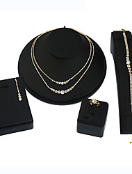 Women's Necklace/Earrings Bridal Jewelry Sets Rhinestone Pendant Geometric Multi-ways Wear Metal Alloy Rhinestone Geometric ForWedding