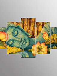 cheap -Stretched Canvas Print Abstract,Five Panels Canvas Horizontal Print Wall Decor Home Decoration