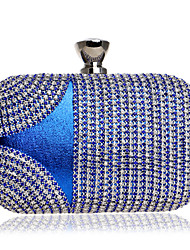 cheap -Women Bags PU Evening Bag Crystal Detailing for Event/Party All Season Blue Gold Black Red Rainbow