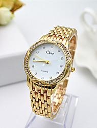 abordables -Mujer Reloj Pulsera Cuarzo Gran venta Acero Inoxidable Banda Encanto Plata Dorado Oro Rosa