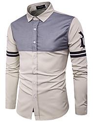 cheap -Men's Street chic Shirt - Striped