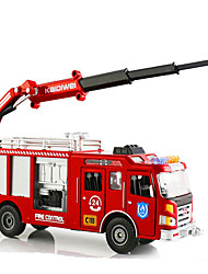 cheap -KDW Toy Cars Model Car Motorcycle Fire Engine Vehicle Toys Retractable Simulation Rectangular Fire Engines Metal Alloy Iron Alloy Metal