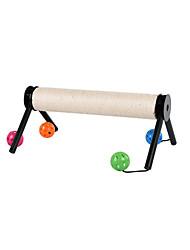 Недорогие -Игрушка для котов Игрушки для животных Игрушки с писком Скрип Игровой круг с шариками пластик Для домашних животных