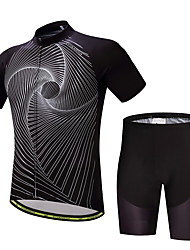 cheap -Men's Short Sleeve Cycling Jersey with Shorts Bike Clothing Suit Polyester, Lycra