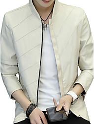Veste Homme,Couleur Pleine ModeAutre Quotidien Décontracté Vêtements de Plein Air Rendez-vous Plein Air Sortie Décontracté / Quotidien