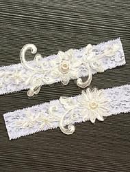 abordables -Elástico Liga de la boda - Perla de Imitación Apliques