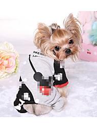 Недорогие -Собака Спортивный комбинезон Плащи Одежда для собак Дышащий Стиль Сохраняет тепло Милая Пэчворк Черный Красный Костюм Для домашних