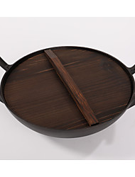 cheap -1Piece/ two ears cast iron pan 28cm pig iron pan thickened without chemical coating physical non stick pot