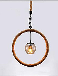 cheap -Hemp - Rope Chandelier Cafe Chandelier Bar Style American Country Hand-Made