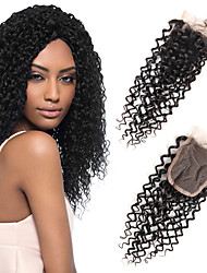 cheap -1 Piece/Pack Brazilian Body Wave 4*4 Swiss Lace Closure Hair 100% Remy Human Hair 3 Kind of Style To Choose