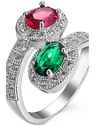 cheap -Ring Settings Ring  Luxury Elegant Noble Zircon  Women's Oval  Creative Rhinestone Euramerican Fashion Birthday Wedding Movie Gift Jewelry