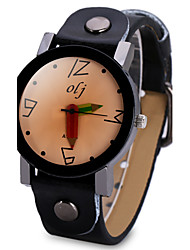 cheap -Women's Fashion Watch Unique Creative Watch Chinese Quartz Large Dial Leather Band Cool Black White