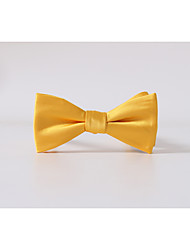 cheap -Men's Party/Evening Wedding Polyester Bow Tie,Casual Solid All Seasons