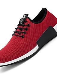 Men's Sneakers Light Soles Summer Fall Net Casual Office & Career Outdoor Side-Draped Low Heel Black Dark Red Under 1in