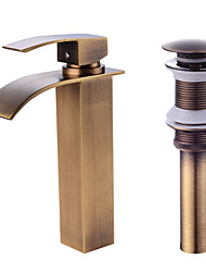 cheap -Faucet Set - Waterfall Antique Copper Centerset One Hole