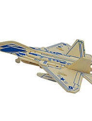 cheap -3D Puzzles Metal Puzzles Wood Model Model Building Kit Plane / Aircraft DIY Natural Wood Classic 6 Years Old and Above
