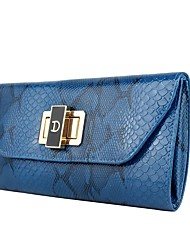 Women Bags All Seasons PU Polyester Clutch Metallic for Event/Party Blue