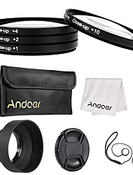 Andoer 52mm close-up set di filtri obiettivo lenti (1 2 4 10) con accessori lenti