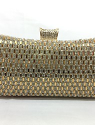 Women Bags All Seasons Metal Evening Bag for Event/Party Gold Silver