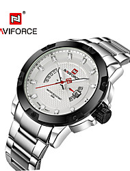 cheap -NAVIFORCE Men's Wrist Watch Japanese Calendar / date / day / Water Resistant / Water Proof / Cool Stainless Steel Band Casual / Fashion