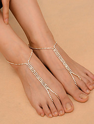 cheap -Women's Anklet/Bracelet Copper Rhinestone Fashion Costume Jewelry Alphabet Shape Jewelry For Daily Casual Outdoor clothing Club