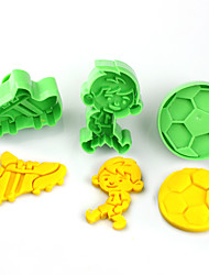 cheap -2017 New Arrival Set of 3 Football Sneakers Sports Symbols Cake Molds Music Party Cookie/Biscuit Cutter Fondant Cake Decorating Tools