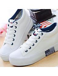 Da donna Scarpe Maglia traspirante PU (Poliuretano) Primavera Estate Comoda Sneakers Per Casual Bianco Nero Blu marino Rosso